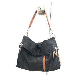 Italian leather handbag, can be worn short or long
